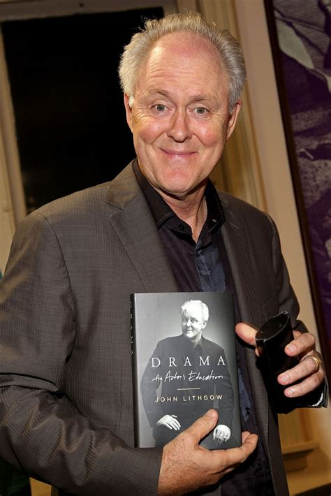 lithgow signs copies of quot drama an actor s education quot zimbio