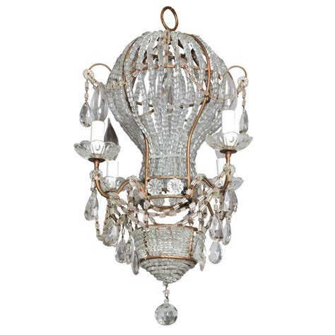 Beaded Hot Air Balloon Four Light Chandelier At 1stdibs Balloon Chandelier