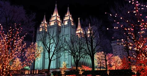 temple square christmas lights wallpaper mouthtoears com