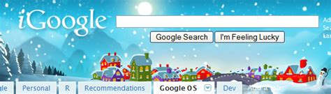 google themes winter holiday village the new winter theme for igoogle