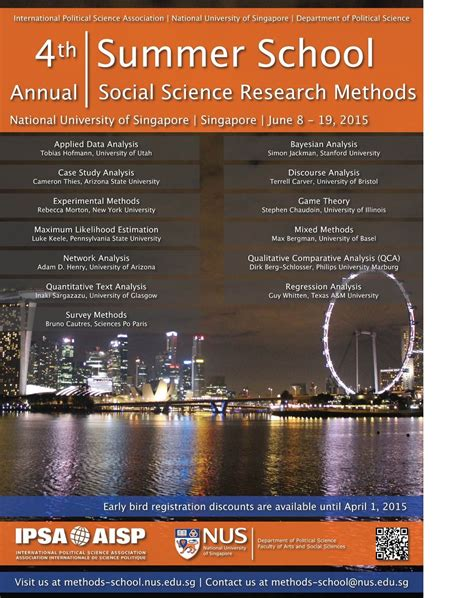 Credit Transfer Form Unsw 4th Annual Ipsa Nus Summer School For Social Science Research Methods