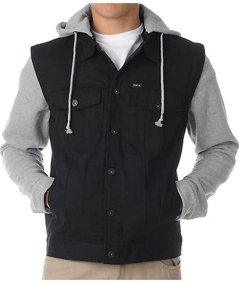 Vest Hoodie Black matix torent black grey vest hoodie