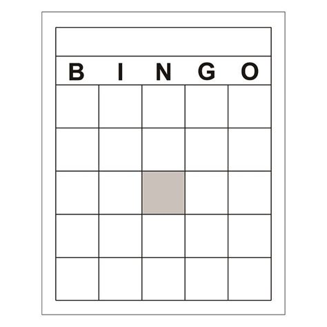 blank bingo cards bridal shower