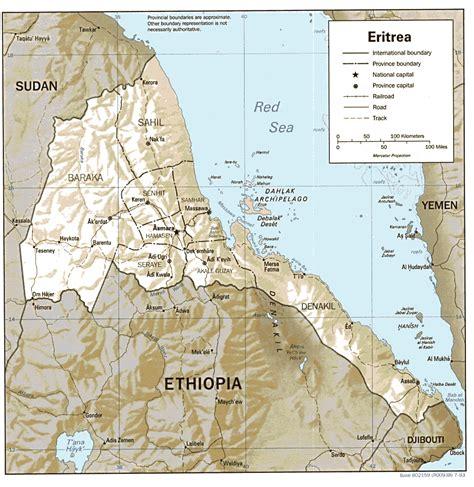 eritrea map studies center eritrea page