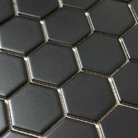glossy black mosaic hexagon porcelain tiles backsplash tile ceramic mosaic bathroom wall tiles