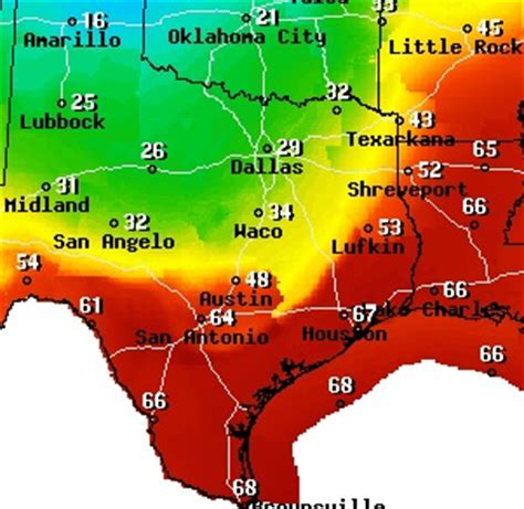texas temp map weather map of texas today cakeandbloom