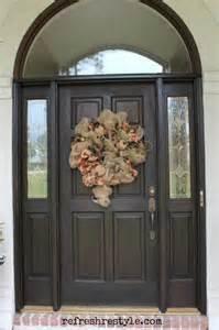 Stain Exterior Door How To Stain Your Front Door Refresh Restyle