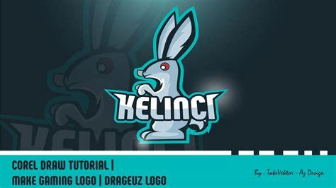 tutorial logo youtube corel draw tutorial make gaming logo kelinci logo by
