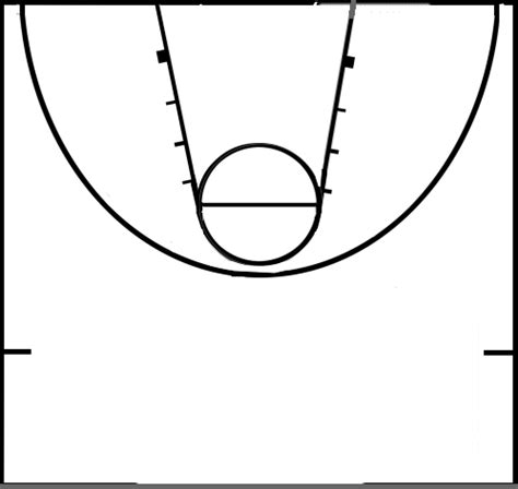 Basketball Line Art Cliparts Co Basketball Lines Template