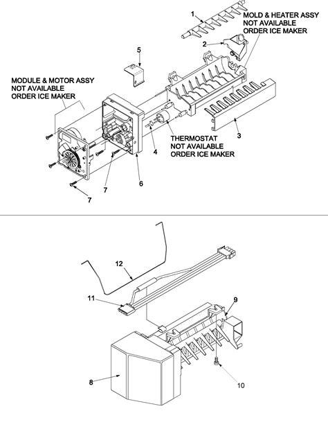 kenmore maker parts diagram maker diagram parts list for model 59672952200