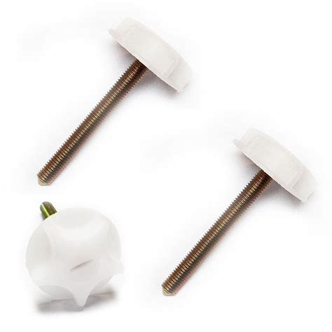 Bed Headboard Screws by Headboard Bolts White Metal Screws With Strong Plastic