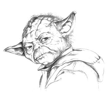 Yoda Drawing Outline by The Gallery For Gt Billie In Color