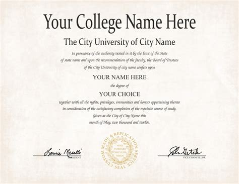 college degree template the best collection of diploma templates for every purpose