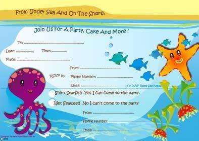 free printable birthday invitations under the sea ocean printables free free printable under the sea or