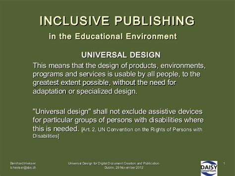 design for environment slideshare inclusive publishing in the educational environment