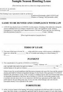 the alabama season hunting lease form can help you make a