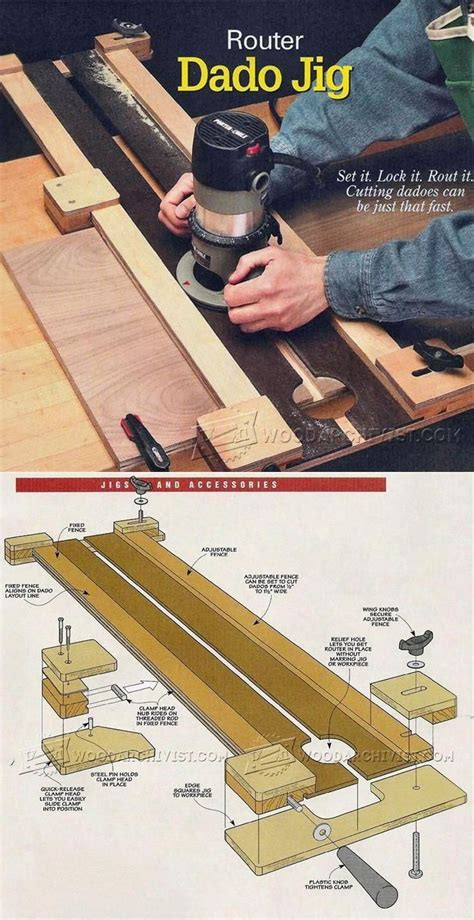 woodworking router tips router dado jig plans joinery tips jigs and techniques