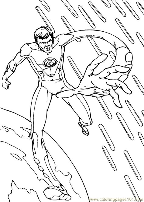 Coloring Pages Fantastic Four Coloring Page 6 Cartoons Fantastic Four Coloring Pages