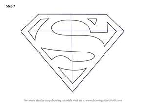 steps on how to draw doodle learn how to draw superman symbol superman step by step