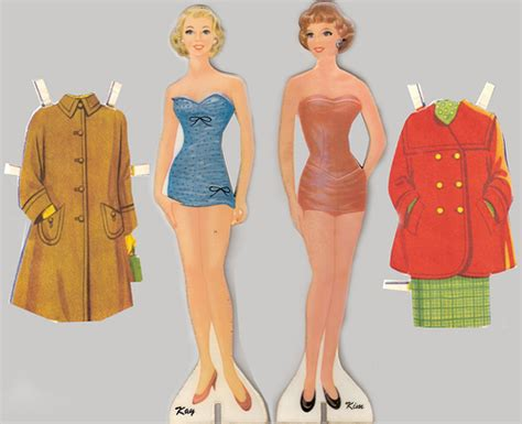 How To Make Cut Out Paper Dolls - paper dolls 1950s from a personel collection i ve had