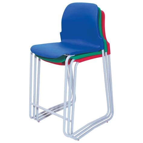 Blue Green Stool In Adults by Proform Eur Skid Base Classroom Stool 610mm Blue Seat