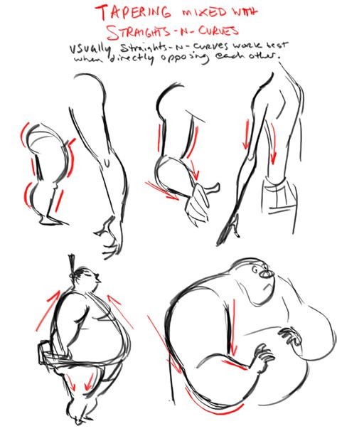 line art animation tutorial the art of dave pimentel tapering body shapes art ref