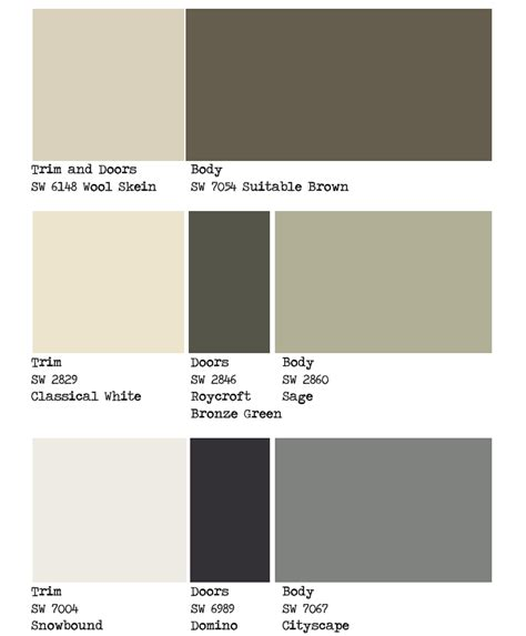 sherwin williams color schemes 1000 images about paint colors on pinterest exterior paint colors paint colors and behr