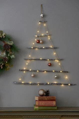 next christmas trees with lights buy light up wall tree from the next uk shop