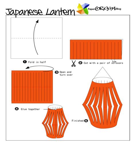 How To Make A Japanese Lantern With Paper - festivel origami japanese lantern paper origami guide