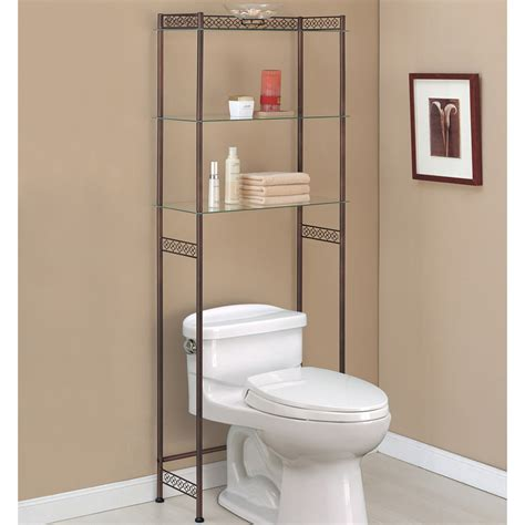 the toilet etagere bronze in the toilet shelving