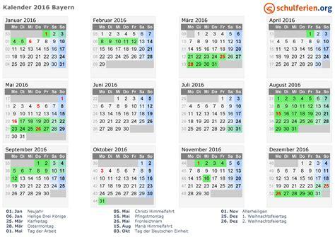 Katholischer Kalender 2016 Kalender 2016 Ferien Bayern Feiertage