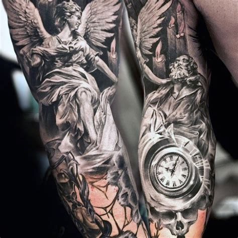 angel tattoo in arm 75 remarkable angel tattoos for men ink ideas with wings