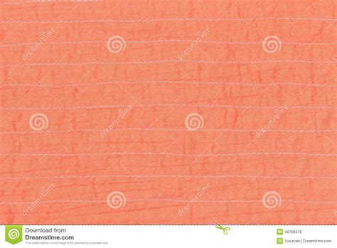coral silk color coral color textile texture of stitched silk stock photo