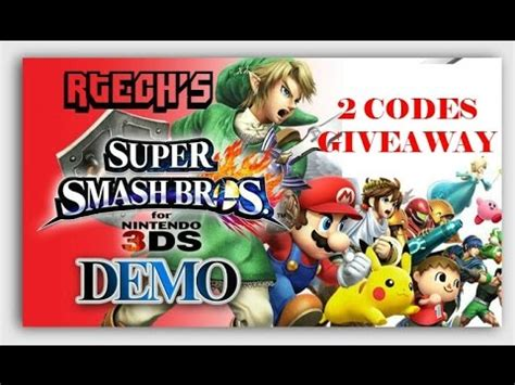 Super Smash Bros 3ds Download Code Giveaway - full download super smash bros 4 3ds demo codes contest giveaway mega man villager