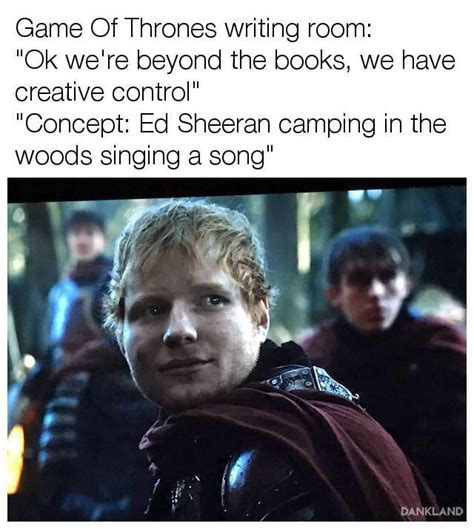 ed sheeran game of throne ed sheeran in game of thrones s7 i love funny things