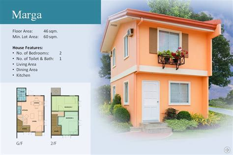 camella homes design with floor plan marga model camella bulakan