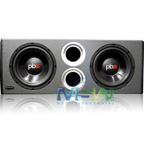 Subwoofer Mobil Aktif Bass Us Audio 10 Bass Menggelegar new powerbass 174 ps wb10 ported loaded subwoofer enclosure box w 2 10 quot car subs 823871002450 ebay