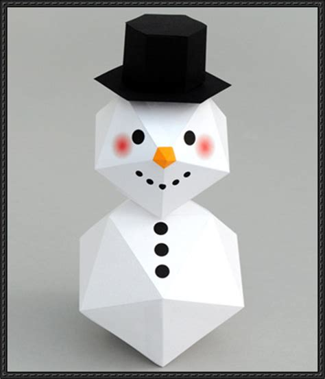 Papercraft Snowman - papercraftsquare new paper craft