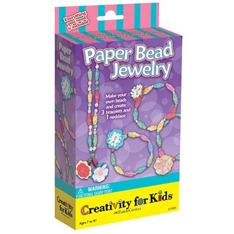 Paper Bead Kit - paper bead jewelry mini kit at growing tree toys