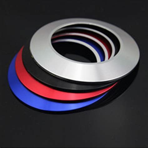 Ring Engine Start Glow In The car styling key ring key push button ignition decoration ring cover engine start stop sticker