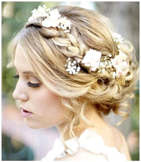 hairstyles with flowers for wedding 27 best wedding hairstyles images on bridal