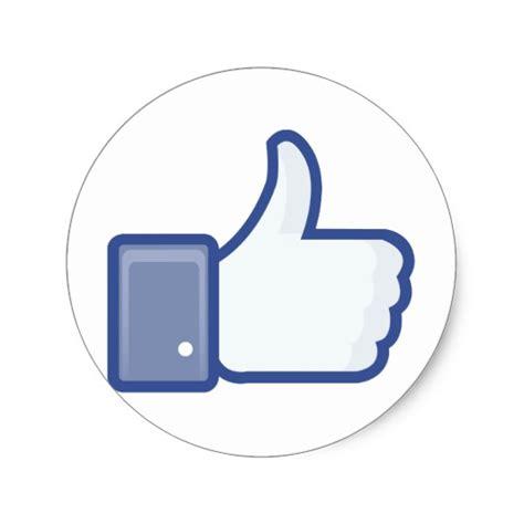 like us on sticker template like me thumb up classic sticker zazzle
