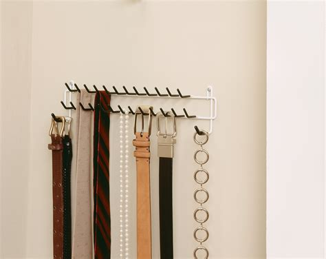 closetmaid 8051 tie and belt rack white