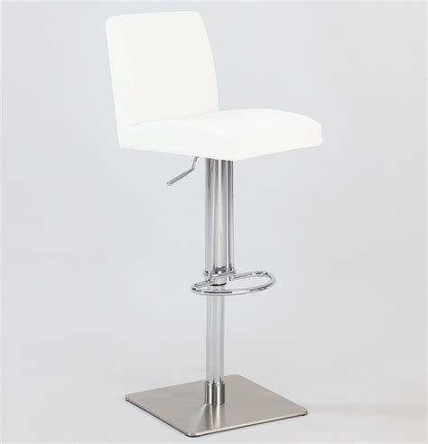 brushed stainless bar stools pneumatic gas lift swivel stool in brushed stainless steel