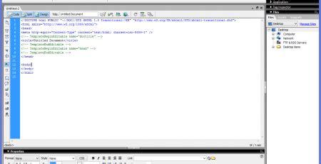 belajar membuat web sederhana menggunakan dreamweaver belajar web design menggunakan macromedia dreamweaver