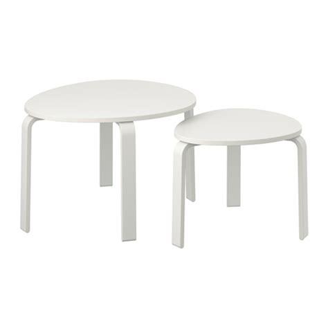 svalsta nesting tables set of 2 white stain ikea