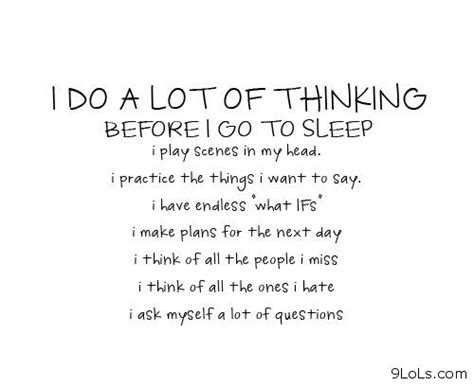 I Do A Lot Of Thinking Before! Go To Sleep I Play Scenes