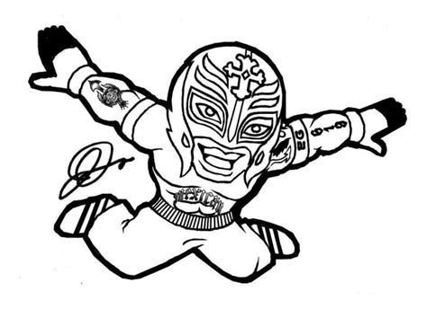 Ray Mysterio Wwe Coloring Pages For Kids Free Printable Mysterio Coloring Pages