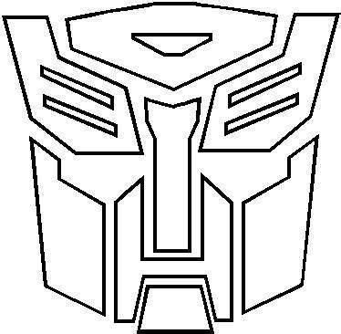 transformers logo coloring pages autobots outline transformers autobot outline decal