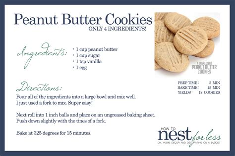 Bedroom Makeovers On A Budget 4 ingredient peanut butter cookies how to nest for less